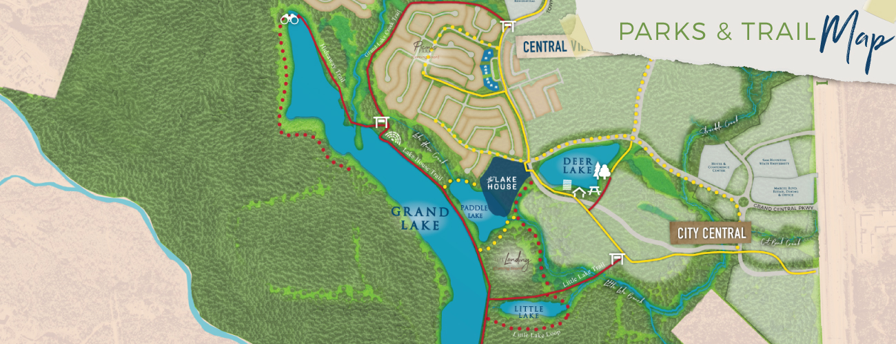 Grand Central Park Parks and Trails Map